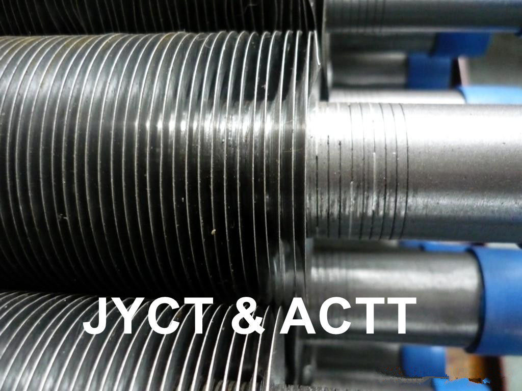 Spiral G Type Embedded Fin Tube for Heat Exchanger SA179 SMLS  Aluminium / Steel